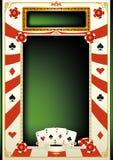 Fondo del póker Imagen de archivo libre de regalías