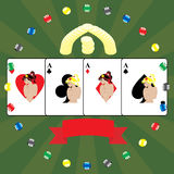 Fondo del póker stock de ilustración