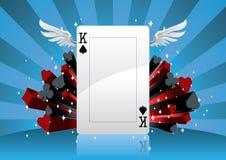 Fondo del póker Imagenes de archivo