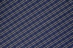 Fondo del paño azul y blanco de la tela escocesa imagen de archivo libre de regalías