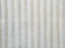 Fondo del paño casero con las rayas blancas Imagen de archivo
