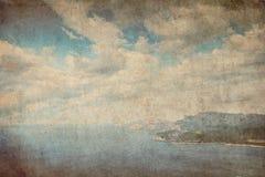 Fondo del paesaggio del mare retro Fotografia Stock Libera da Diritti