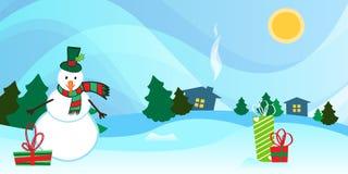 Fondo del paesaggio di Natale Immagini Stock Libere da Diritti