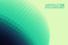 fondo del paisaje 3D verde al ejemplo azul del vector del extracto de la pendiente Ordenador Art Design Template Paisaje Imágenes de archivo libres de regalías