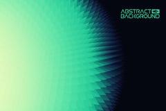 fondo del paisaje 3D verde al ejemplo azul del vector del extracto de la pendiente Ordenador Art Design Template Paisaje Fotografía de archivo