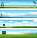 Fondo del paisaje de la naturaleza stock de ilustración