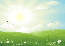 Fondo del paisaje de la naturaleza ilustración del vector