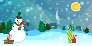 Fondo del paisaje de la Navidad stock de ilustración