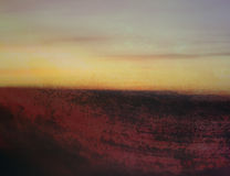 Fondo del paisaje del grunge del arte abstracto Foto de archivo libre de regalías
