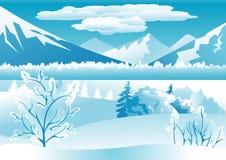 Fondo del paisaje del invierno Foto de archivo libre de regalías