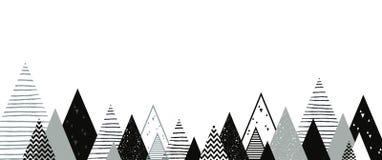 Fondo del paisaje del invierno de la Navidad Vector abstracto stock de ilustración
