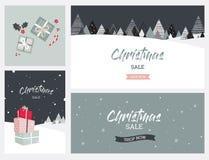 Fondo del paisaje del invierno de la Navidad Venta de la Navidad Vector abstracto libre illustration