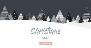 Fondo del paisaje del invierno de la Navidad Venta de la Navidad Vector abstracto