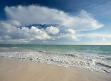 Fondo del paisaje marino en la República Dominicana imagenes de archivo