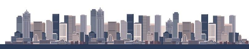 Fondo del paisaje urbano, arte urbano ilustración del vector