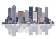 Fondo del paisaje urbano, arte urbano libre illustration