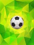 Fondo del pallone da calcio del Brasile Fotografia Stock