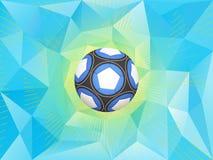 Fondo del pallone da calcio dell'Argentina Fotografia Stock