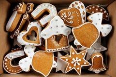 Fondo del pan di zenzero di Natale Fotografia Stock Libera da Diritti