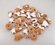 Fondo del pan di zenzero di Natale Fotografia Stock
