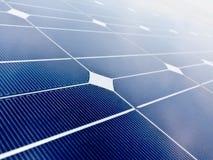 Fondo del pannello di batteria della pila solare Fotografia Stock Libera da Diritti