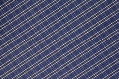 Fondo del panno blu e bianco del plaid Fotografie Stock Libere da Diritti