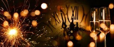 Fondo del panorama del Año Nuevo Fotografía de archivo