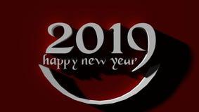 Fondo del papel pintado de la Feliz Año Nuevo 2019 fotos de archivo