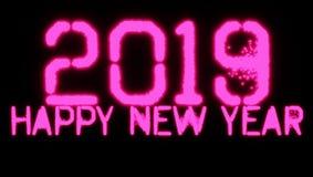 Fondo del papel pintado de la Feliz Año Nuevo 2019 imagen de archivo