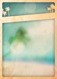 Fondo del paraíso del verano Fotos de archivo libres de regalías