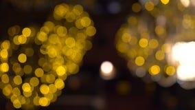 Fondo del parpadeo de luces de oro 4K almacen de metraje de vídeo