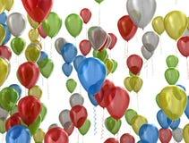 Fondo del partido de los globos Foto de archivo libre de regalías