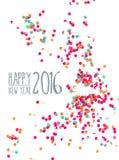 Fondo 2016 del partido del confeti de la Feliz Año Nuevo Foto de archivo libre de regalías