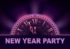 Fondo del partito del nuovo anno nei toni porpora fotografie stock libere da diritti