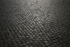 Fondo del pavimento de adoquín Foto de archivo