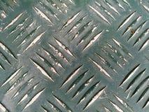 Fondo del pavimento spazzolato estratto della lamina di metallo Fotografia Stock