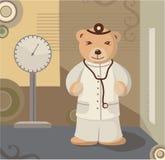 Fondo del pediatra del oso del peluche Foto de archivo libre de regalías