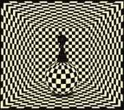 Fondo del pegno di scacchi Immagini Stock Libere da Diritti