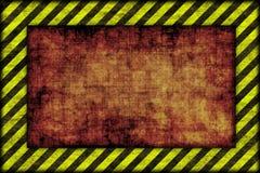 Fondo del peligro. líneas amonestadoras, negro y amarillo. Fotografía de archivo libre de regalías