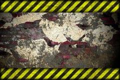Fondo del peligro. líneas amonestadoras, negro y amarillo. Imágenes de archivo libres de regalías