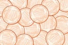 Fondo del penique del centavo Fotografía de archivo