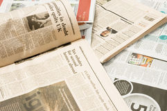 Fondo del periódico Fotografía de archivo