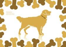 Fondo del perro perdiguero de oro ilustración del vector