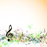 Fondo del personal de las notas musicales. stock de ilustración