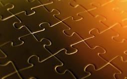 Fondo del pezzo di puzzle Fotografie Stock