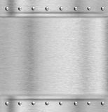 Fondo del piatto d'acciaio di struttura del metallo Immagine Stock