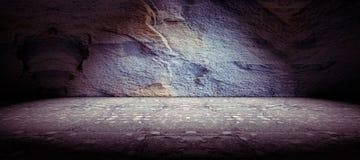Fondo del piso del hormigón y de la roca Imagen de archivo libre de regalías
