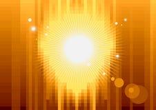 Fondo del pixel del oro Imagenes de archivo