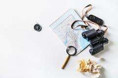 Fondo del plan de viaje Fotos de archivo libres de regalías