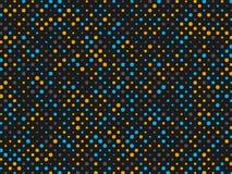 Fondo del pois con i cerchi grigi e blu gialli Fotografia Stock Libera da Diritti